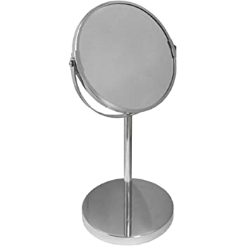 TheBigShip® Round Swivel Table Bathroom Shaving Make up Mirror Chrome Finish 1 Piece