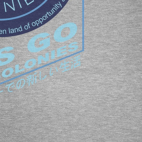 TEXLAB - Off World Colonies - Herren Langarm T-Shirt Grau Meliert