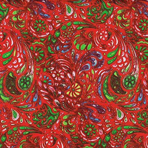 Colore: rosso, 100% cotone tessuto a trama Fine, in popeline, motivo: vortici 114,30 (45
