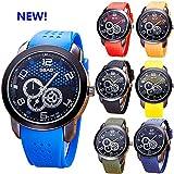 Sansee Student Uhren, neue Armbanduhr Männer 2017 Top Brand Luxus berühmten männlichen Uhr Uhr (3457, Rot)