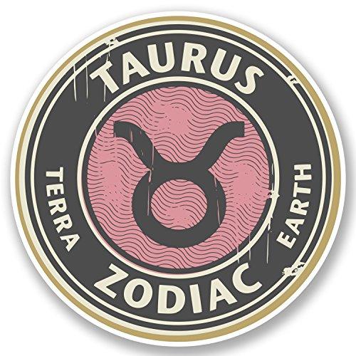 2-x-taurus-vinyl-sticker-decal-ipad-laptop-star-sign-zodiac-horoscope-gift-4667-10cm-x-10cm