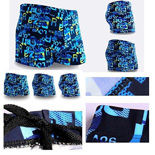 Blumen-Boxer Badehose Hot Springs Badehose Mode Badebekleidung Meeresblau