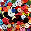 ASVP Shop� 100 Small Coloured Buttons Wedding Decorations Table Centrepiece Craft Art Kitsch