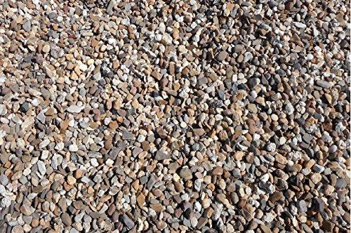 50 kg gewaschener bunter Rheinkies 2-8 mm - Buntkies Teichkies Waschkies Zen Garten Lieferung KOSTENLOS