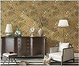 Yosot Vlies Tapete Amerikanische Wohnzimmer Tv Tv Hintergrund Tapete Papier Blume Und Vogel Baum Schlafzimmer Tapete Kaffee