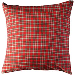 Escoces Rojo - cojin decorativo - cojin rojo - cojin grande - tela cuadros - wikipillow - 60x60cm.