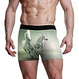 novità Slip Boxer da Uomo Premium Ultra Morbido Premium Rigonfiamento Sacchetti Rigonfiamento Running Cavallo Bianco Animale