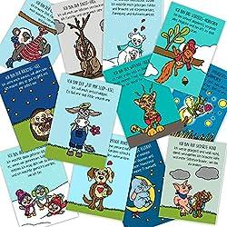 Gefühlskarten für Kinder DIN A7 Gefühlsfinder, Gefühle lesen, Gefühle benennen und verstehen, Kraftkarten Wahrnehmung stärken, Kinder stärken, Gefühle zeigen, Gefühle erkennen, Bedürfnisfinder