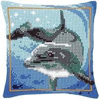 Vervaco - Cuscino a punto croce, motivo: delfino, multicolore - Delfini Croce