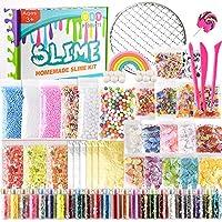 KUUQA 61 Packs Slime Supplies Kit, incluyendo Fishbowl Beads, papel de azúcar, rejilla, Googly Eyes, Shell, rebanadas, confeti, bolas de espuma de lodo, hoja de imitación de oro para la fabricación de baba artesanía de bricolaje