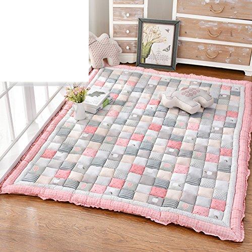 er Teppich verdicken sie,[kurzes plüsch],Rutschfeste Decke Bett Tisch Crawling mat Tatami matratze-F 110x200cm(43x79inch) ()