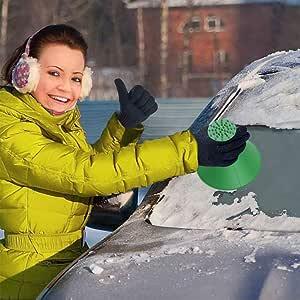 Eiskratzer Auto Eiskratzer Rund Schneebesen Scheibenkratzer Auto Schnee Und Eiskratzer Reinigung Schneeschaufel Werkzeug Eiskratzen Ice Scraper Für Auto Windschutzscheibe Auto