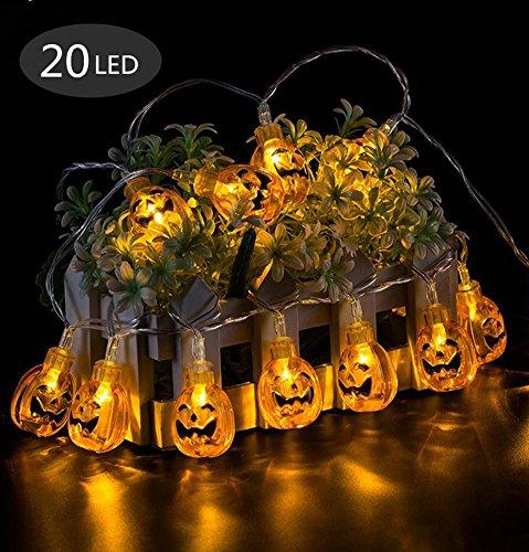 Halloween Deko Licht, Morbuy 20 LED Lichterkette Spinne Kürbis LED Lampen Batteriebetrieben Beleuchtung Bunte Leuchten Deko Perfekt Für Halloween-Dekoration (Kürbis) (Gruselige Halloween Lebensmittel Für Erwachsene)