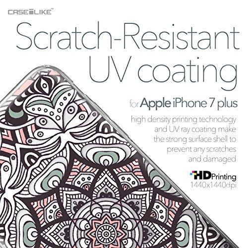CASEiLIKE iPhone 7 Hülle, iPhone 7 TPU Schutzhülle Tasche Case Cover, Comic Beschriftung 2914, Kratzfest Weich Flexibel Silikon für Apple iPhone 7 Mandala-Kunst 2095