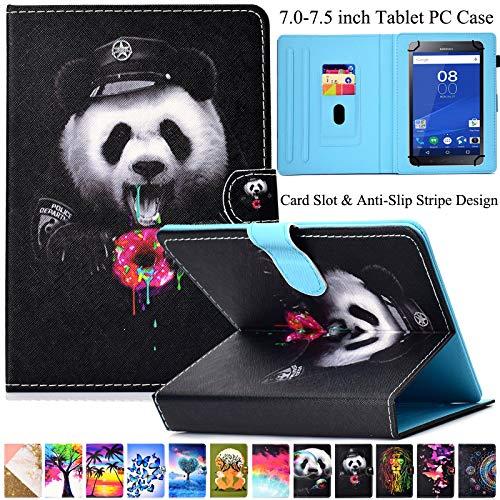 Universal-Schutzhülle von Artyond aus PU-Leder mit Mehreren Winkeln und Kartenfächern, Magnetverschluss für alle 17,8-7,5 Zoll Kindle, Android, Galaxy Tab, Windows Tablet, Dessert Panda 5 Dessert