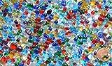 Deko Mosaiksteine Glaskiesel 3-10mm glänzend bunt 100g ca700St.