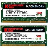 Komputerbay 16Go (2x 8Go) PC3-10600 204-Pin 1333 SODIMM pour ordinateur portable Mac Speicher mémoire pour Apple Mac