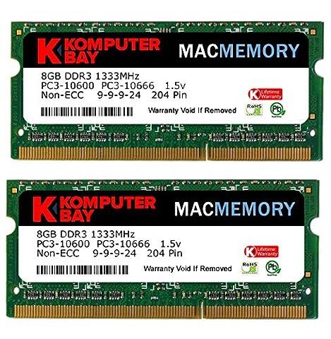 Komputerbay 16Go (2x 8Go) PC3-10600 204-Pin 1333 SODIMM pour ordinateur