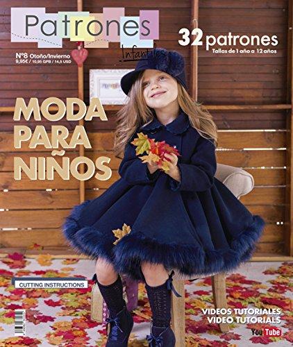 Revista Patrones Infantiles Nº 8 - Patrones De Costura Infantil - Moda Otoño Invierno, 32 Modelos Patrones Niña, Niño y Bebé