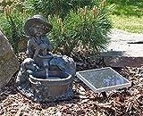Solar Springbrunnen NSP5 Knabe mit Schale Zierbrunnen Brunnen Solarbrunnen Gartenbrunnen