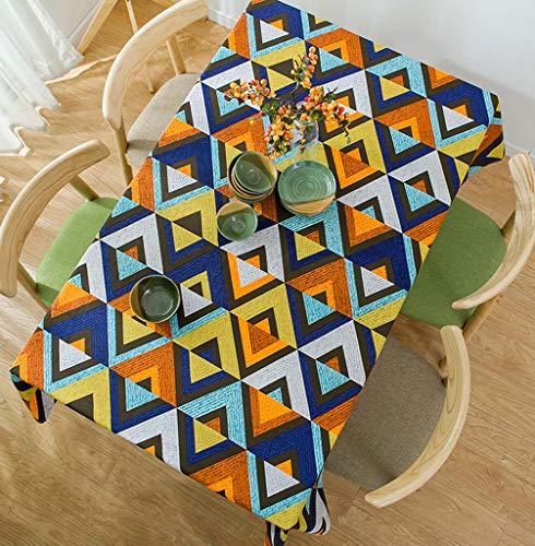 Zhangy tavoli rettangoli- tovaglie- lino tavolino in tela di cotone simple ony table- decorazione,140 * 220cm(55 * 87in)