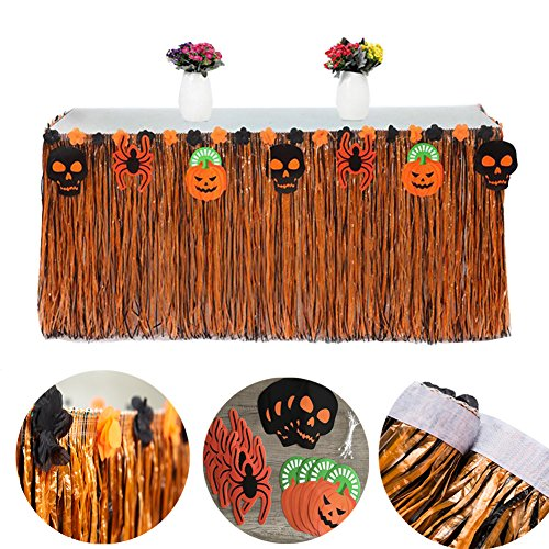 Halloween Tischdecke ,Tatuer Halloween Tischdeko + 4* Halloween Kürbis Karten + 4* Halloween Geist Karten +4* Spinne Karten für DIY Halloween Dekoration Halloween Party (Dekoration Diy Halloween)