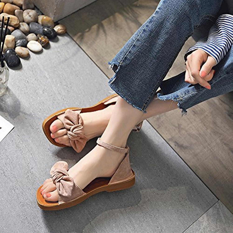 OME&QIUMEI La Palabra Arrastrar Todo-Match Femenino Verano Zapatillas Zapatos De Suela Suave Desgaste Sandalias