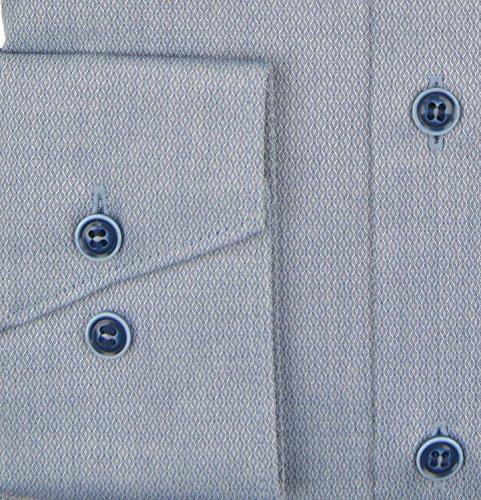 Marvelis Hemd Comfort Fit dunkelblau strukturiert Dunkelblau