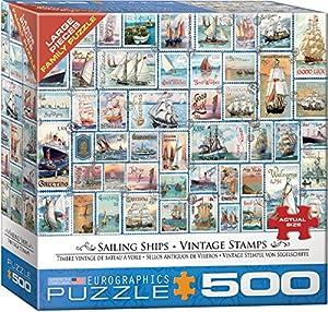 Eurographics 85005357 - Puzle con Sellos de Vela, diseño Vintage