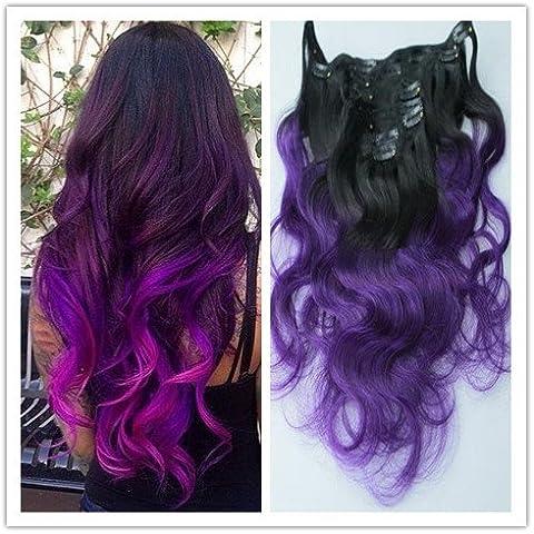 Brazilian Sexyqueenhair Ombre capelli viola costellato di