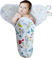 Kassy Swaddle 100% Cotton Adjustable Infant Swaddle (Wrap), Colorful Printed Cotton Swaddles, Best Unisex Baby Products for Baby Shower Gifts (Color 19)