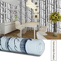 Papel pintado del fondo del sofá del sofá del bosque del patrón del bosque del abedul del árbol de la pared del papel pintado
