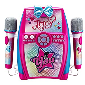 EKids JJ-615 Jojo Siwa Deluxe - Caja con micrófono Doble, Color Rosa