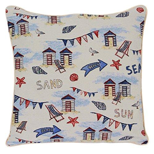 9d829988d5 Diseño de caseta de playa cojín por Signare | inusual elegante funda de  almohada | 45