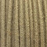 Fil électrique tissu toile de jute - câble rond 2 fils 2x0.75mm2