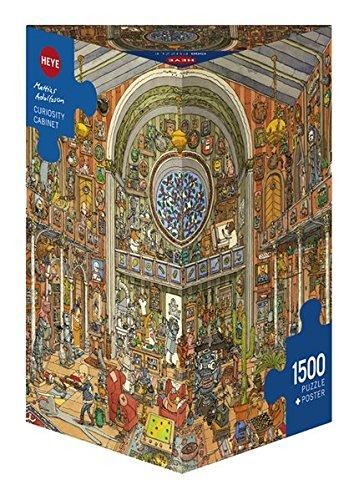 HEYE 29794 - Curiosity Cabinet Triangular, Mattias Adolfsson, inklusiv Poster, 1500 Teile Puzzle - Kunst-kabinett