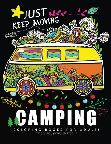 Camping Coloring Book for Adults