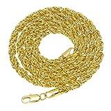 Beydodo Colgante Collar Chapado en Oro Hombre Collar de Hombre Collar Cadena Trenzada Longitud 75cm Collar Oro