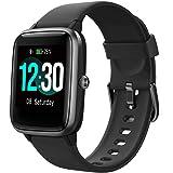 Smartwatch, fitnesstrackerhorloge, 1,3 inch HD volledig touchscreen, dames en heren, horloge voor Android iOS, IP68 fitnessho