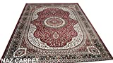 #7: NEW LAUNCHED HIGH STANDARD QUALITY KASHMIRI DESIGN CARPET WITH ADVANCED 1 INCH PILE THICKNESS WITH NEW COLORS & DESIGN AT COMPETETIVE PRICE FOR YOUR BEDROOM AND LIVING ROOM (150x200cm) 5 Feet by 7 Feet COLOR MAROON