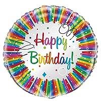 18nastri arcobaleno compleanno palloncino Foil rotondo-Confezionato (