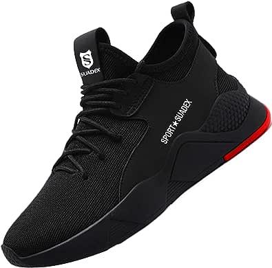 Scarpe Antinfortunistiche Uomo Donna Scarpe da Lavoro con Punta in Acciaio Scarpe da Cantiere Leggere Traspiranti Sneaker Sportive di Sicurezza …