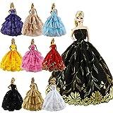 ZITA ELEMENT® Lot de 6pcs Fait Main Robe de soirée Vêtements Dress Pour Poupée Barbie Noël Cadeau d'Anniversaire - Ramdon Style