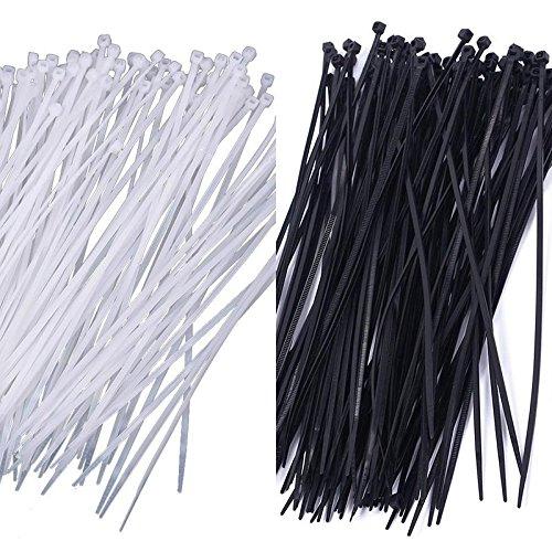 Teabelle Nylon Kunststoff-Kabelbindern Reißverschluss Draht Wrap Strap New Lot 10020,3cm 3x Verlaufsfilter -