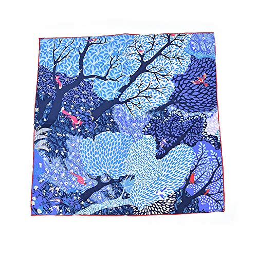 Wald Grün Schatten Tuch (XZSRH Square Schal Seidentwill Frühling Und Herbst Winterdruck Männer Und Frauen Modelle Seidenschal Schal Stirnband Wald 60Cm)