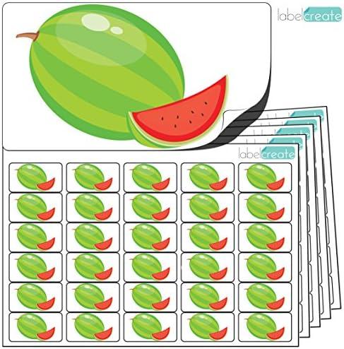 480 x autocollants pastèque (38 x 21 mm) mm) mm) Étiquettes fruit. autocollantes de qualité élevée par Label Create. B01L92WK5K 595fd4