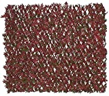 Primrose Artificial Rojo Acer Extensible Enrejado plástico Cortasetos jardín Valla de privacidad Viento y de Sol protección de fronteras 2.0m x 1,0m (6ft 6in x 3ft 3en) por Papillon