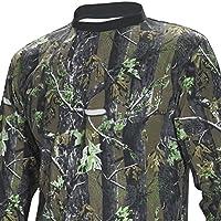 FLADEN auténtico desgaste 100% algodón largo y corto camuflaje camisetas - manga características Woodland camuflaje bosque diseño - Ideal para pesca, caza y deportivas similares, color  - camuflaje, tamaño X-Large - T-Shirt