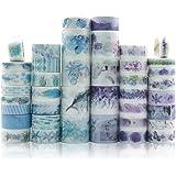LELE LIFE 40 rouleaux Washi Tape Set, Washi Masking Tape Set, Ruban adhésif de masquage décoratif Craft Tape Collection pour