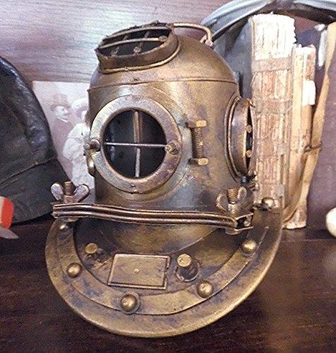 Antiker gelber Taucherhelm US Navy Anchor Engineering Taucher Helm Replik